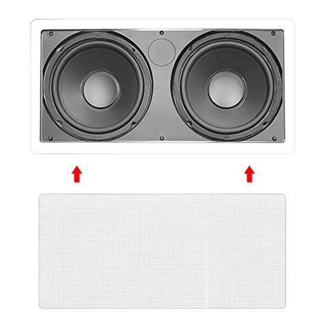 In Ceiling Powered Subwoofer by Pyle Pdiws28 Dual 8 Inch In Wall In Ceiling High Power