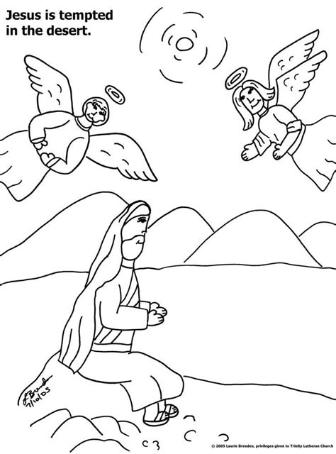 coloring pages of jesus temptation 8 best images about jesus in desert on pinterest