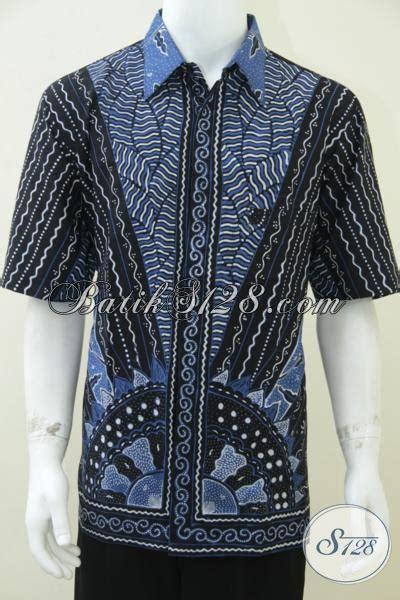 Jaket Anak Warna Biru Keren batik pria warna hitam biru keren batik tulis