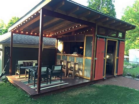 shed plus dining platform idea shed conversion