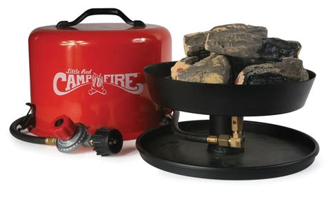 Little red campfire portable gas campfire camco grills and fire pits cam58031