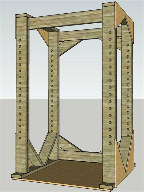 Wooden Power Rack Failure by Wood Load Bearing Capacity Of 2x6 S For Diy Lifting Cage