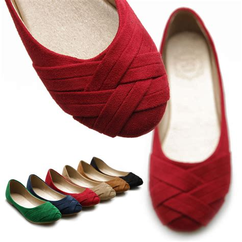 colored flats ollio womens ballet flats comfortable cross stripe loafers
