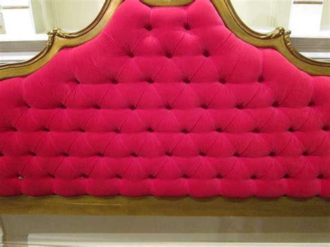 red velvet headboard hollywood regency red velvet tufted and gold headboard