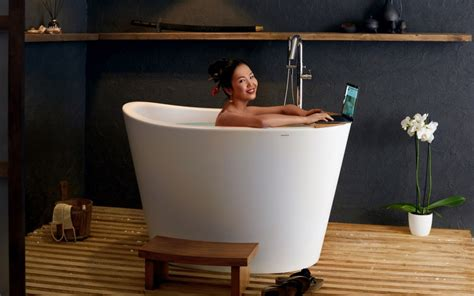 japanische badewanne aquatica true ofuro tranquility heated japanese bathtub