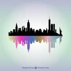 new york skyline vector art vector free download
