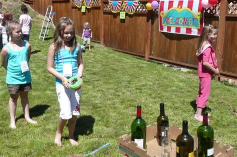 backyard carnival birthday party ideas madelyn turns 9 birthday party ideas photo 4 of 26