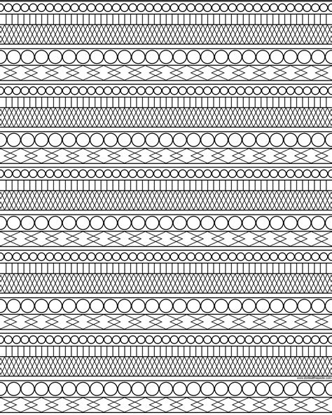pattern color sheets pattern coloring pages bestofcoloring com