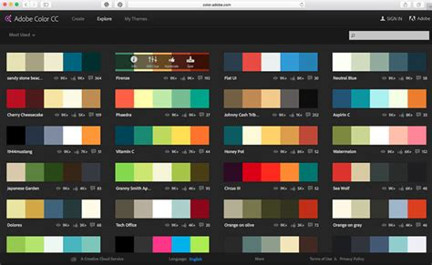 adobe color palette how to the colour palette calligraphy