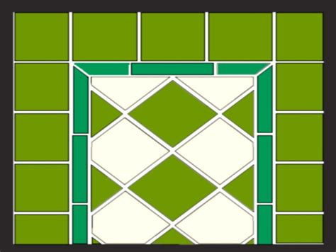 grid layout border top 5 wall tile patterns for kitchen or bath