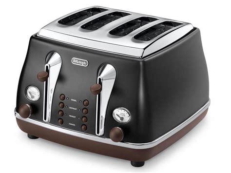 Black 4 Toaster Vintage Icona Black 4 Slice Toaster Delonghi New Zealand