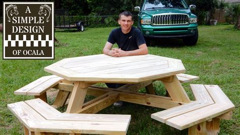 how to build a picnic table bench how to build a picnic table octagon picnic table plans