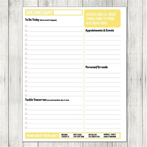 printable day planner paper 74 best images about planners organizers calenders i need