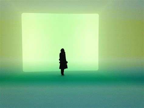 James Turrell Light Exhibition at Canberra National Art Gallery.