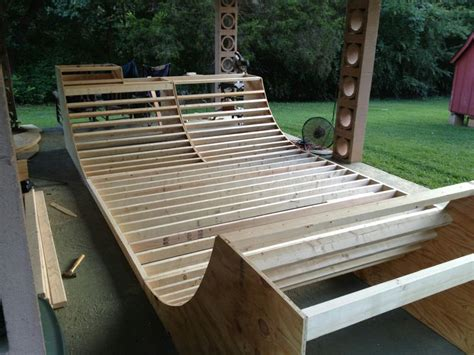 How To Build A Halfpipe In Your Backyard by Diy Skateboard Half Pipe Pinteres