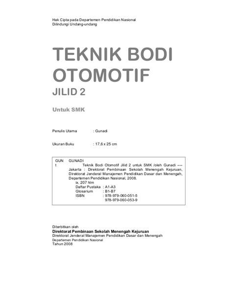 Teknik Otomotif teknik bodi otomotif jilid 2