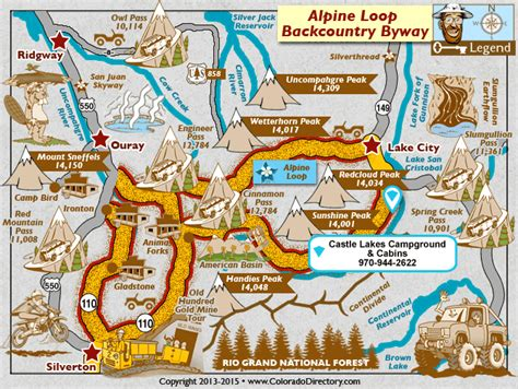 colorado cgrounds map castle lakes cground and cabins lake city south west