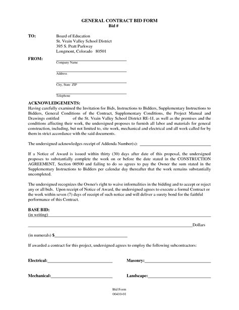 contract for contractors template 10 best images of general contract agreement template
