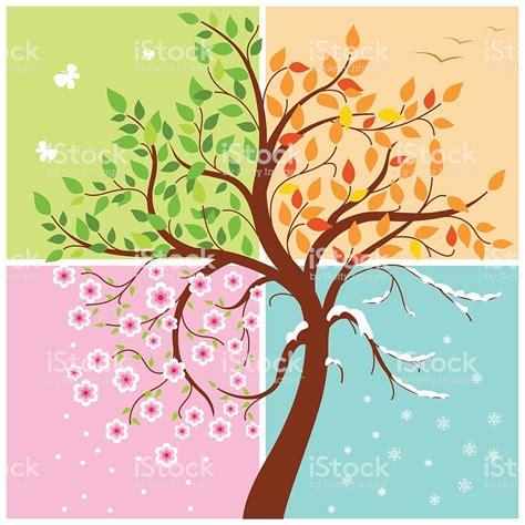 illustration of season trees four seasons of the year illustration stock vector 483889168 istock