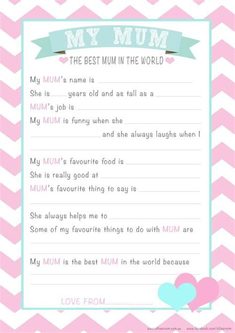 printable mother s day questionnaire free personalised mother s day questionnaire printable