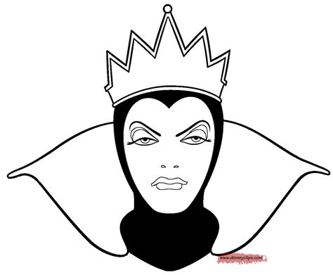 Evil Queen Coloring Page | snow white and the seven dwarfs coloring pages 5 disney