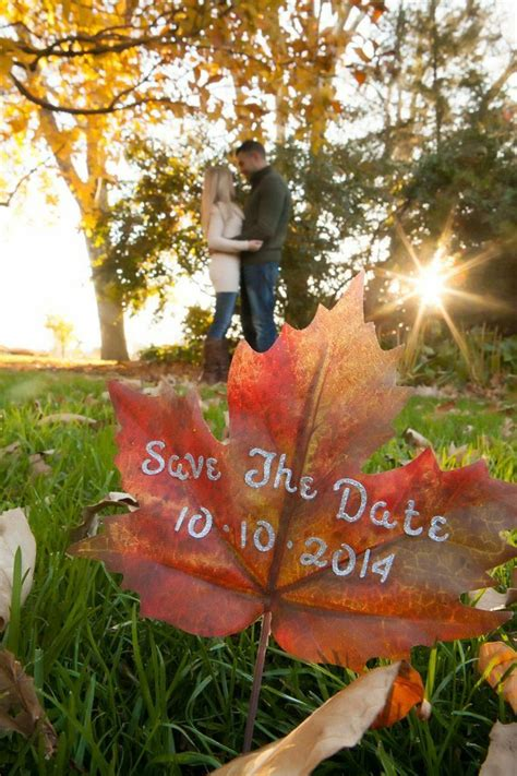 decorations take date fall save the date photo idea https www