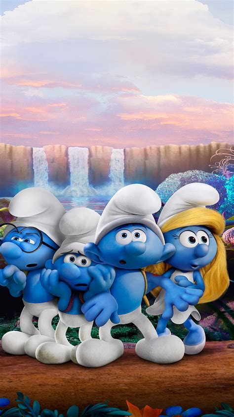 wallpaper smurfs  lost village smurfette brainy