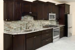heritage shaker espresso kitchen cabinets surplus warehouse - kitchen cabinets showroom yelp