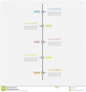 timeline vertical infographic with color text template