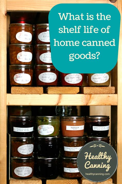 Canned Goods Shelf Chart by What Is The Shelf Of Home Canned Goods Healthy Canning