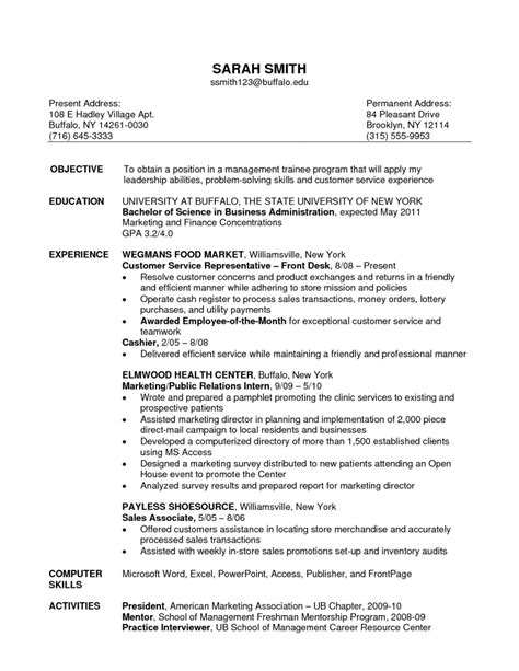 Resume Objective Exles List Sales Associate Skills List Retail Objective Experience