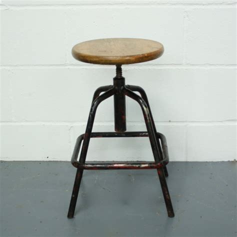 The Stool Company by Vintage Industrial Factory Stool Lovely And Company
