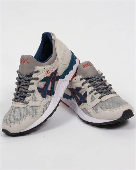 asics gel lyte  trainers light greylegion blueshoes