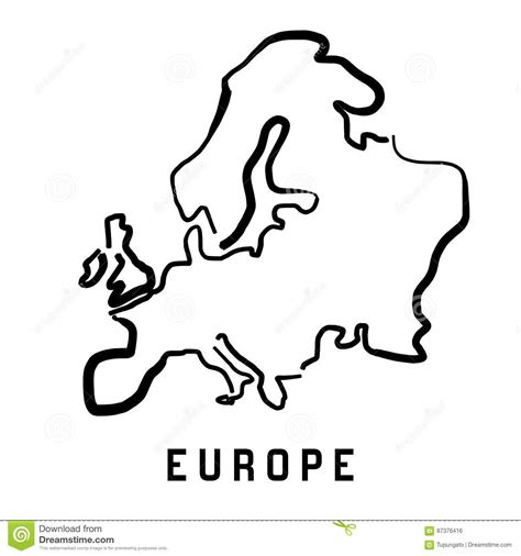 Europe Continent Outline by Europe Simple Outline Stock Vector Illustration Of Handwritten 87376416