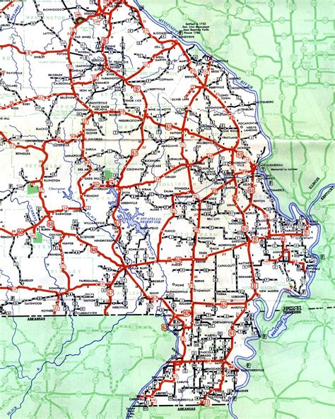 missouri road map mo highway map pictures to pin on pinsdaddy
