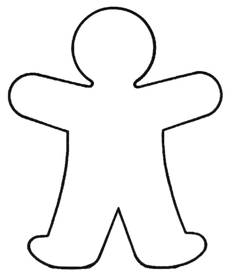 Person Outline Clip by Clip Outline Of A Person Clipart Best