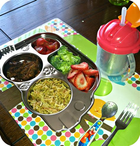 Inno Baby Din Din Smart Stainless Divided Plate bloom into baby innobaby din din smart and sippin smart sippy ends 4 22