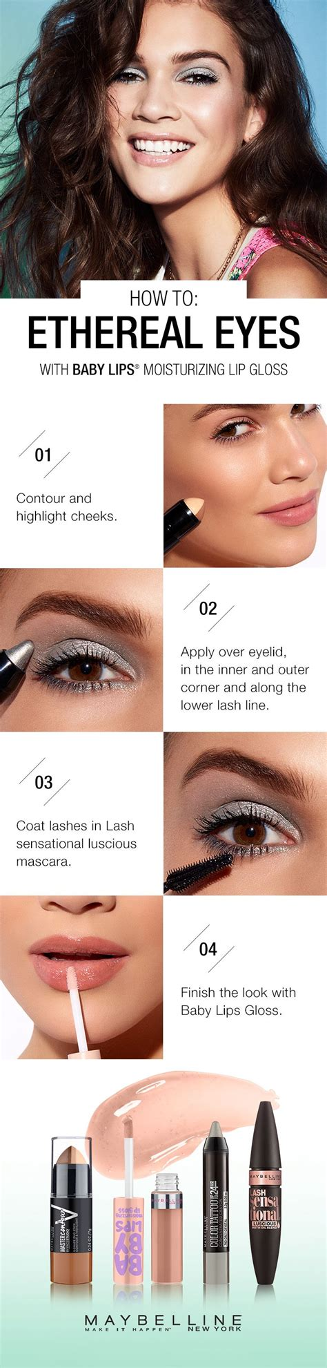 tutorial eyeshadow maybelline learn how to get this soft metallic eye look by following