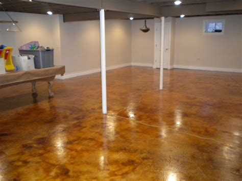 Staining Basement Floor by 1000 Images About Basement On