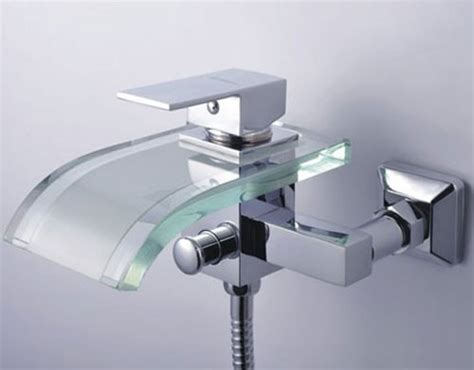 How To Fix A Single Handle Bathtub Faucet by Single Handle Waterfall Wall Mount Chrome Glass Bathtub