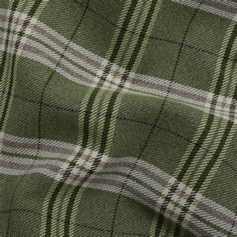 cushion upholstery fabric traditional tartan check soft twill cotton faux wool