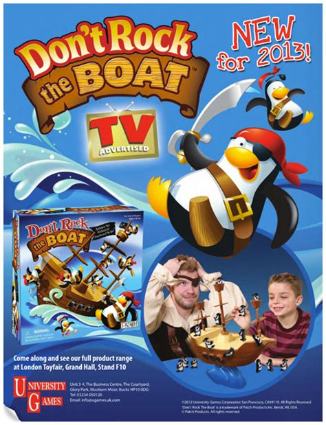don t rock the boat board game from university games - Don T Rock The Boat Advert