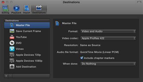 final cut pro youtube settings how to share final cut pro videos to youtube