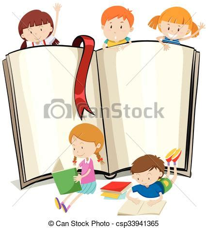 clipart libri libro libri disegno bambini lettura illustrazione