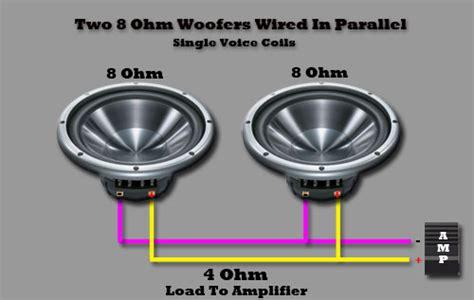 2 8 ohm resistors in parallel single voice coil