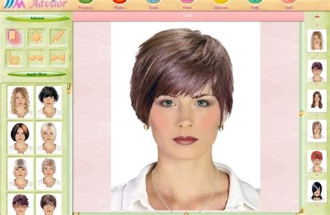 hair styles for face simulator new look hair style