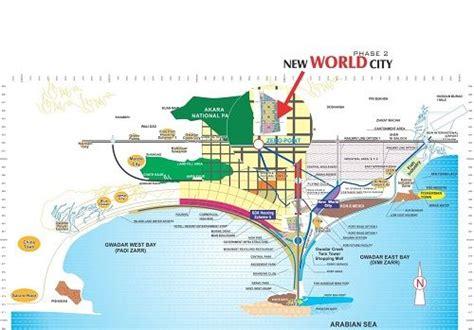 new world city gwadar map new world city phase 2 gwadar
