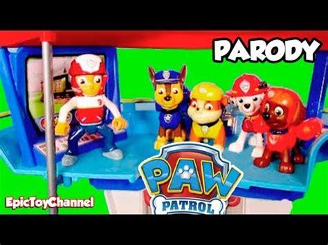 paw patrol lifeboat paw patrol parody nickelodeon lookout playset paw patrol