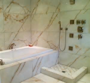 Outdoor Space Dividers - white onyx master bathroom modern bathroom seattle by antony architectural stone