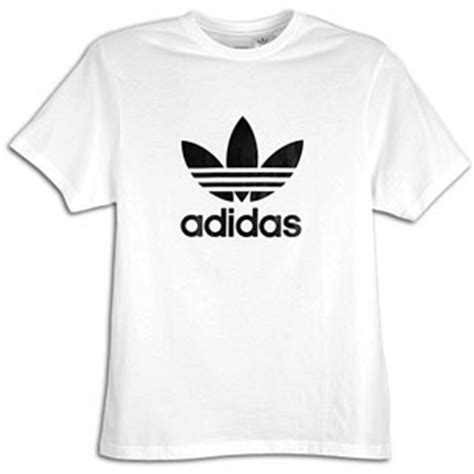 Kaos Adidas Black Whiteadidas T Shirt adidas originals trefoil s s logo t shirt s at foot